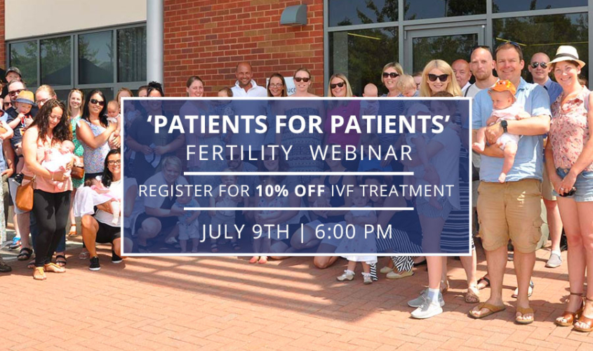 Join us for next week's 'Patients for Patients' webinar