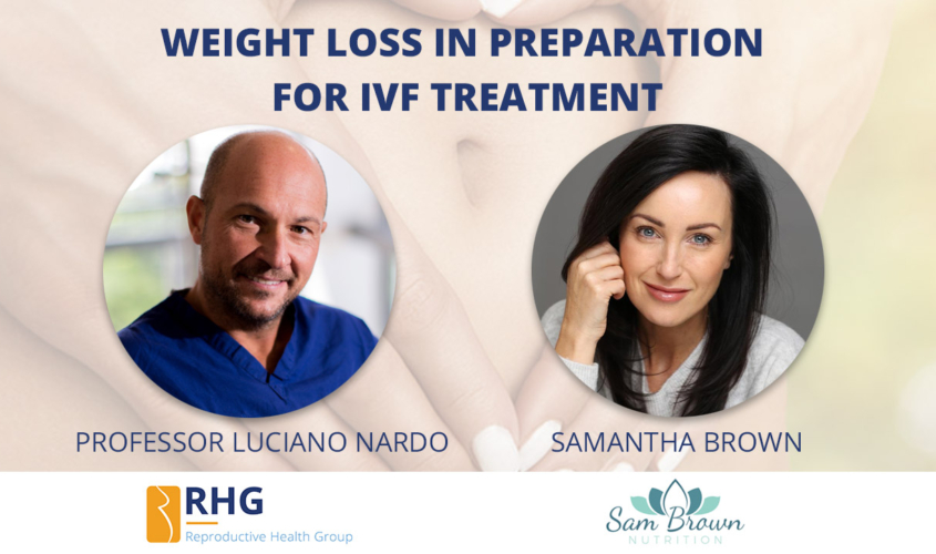 Weight loss in preparation for IVF treatment
